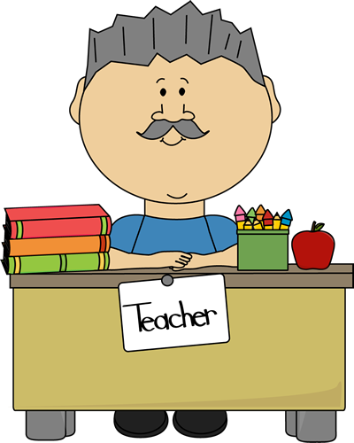 Male Teacher with Gray Hair Clip Art.