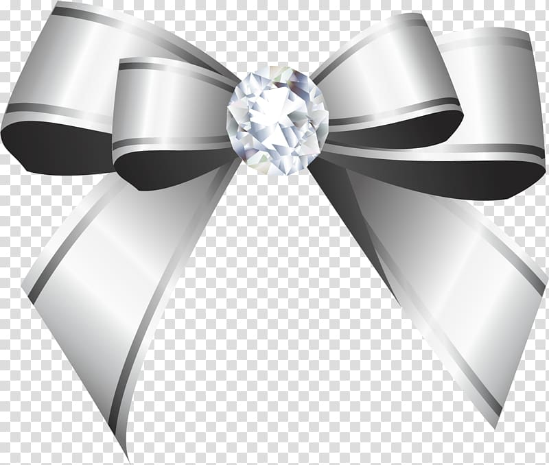 Gray ribbon illustration, Ribbon Silver Shoelace knot , Hand.
