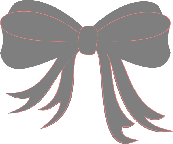 Gray Ribbon Bow Clip Art at Clker.com.