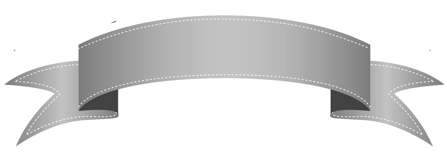 Grey Ribbon Clipart.