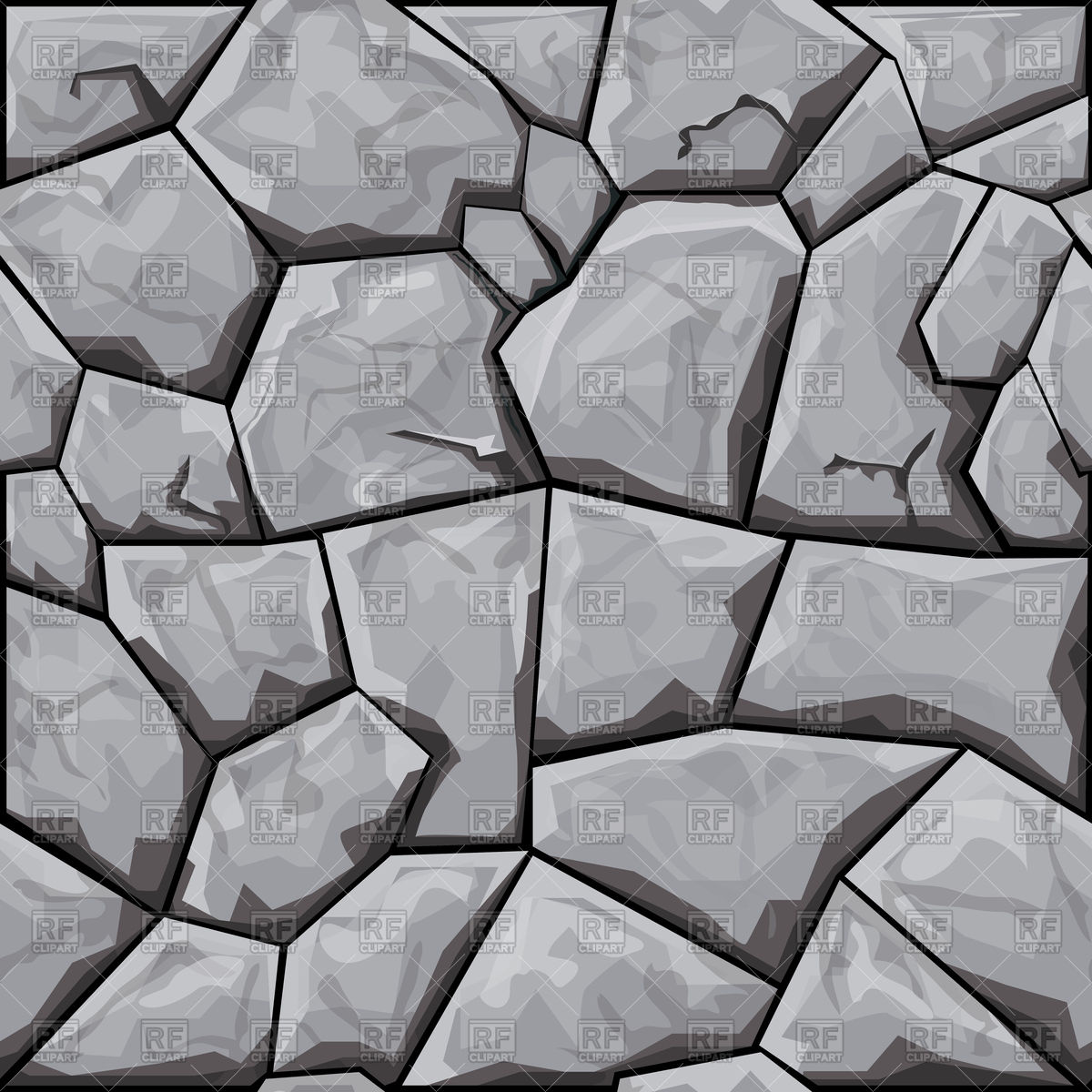 Simple grey stone seamless pattern Vector Image #96621.