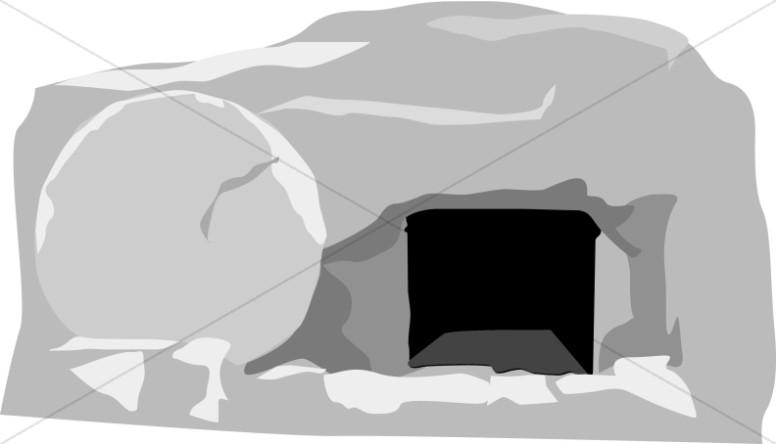 Open Gray Stone Tomb.