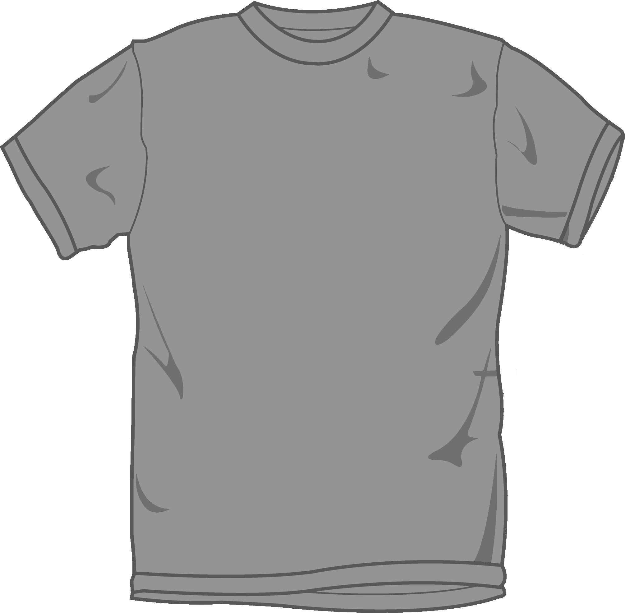 Gray t shirt template clipart images gallery for free download.