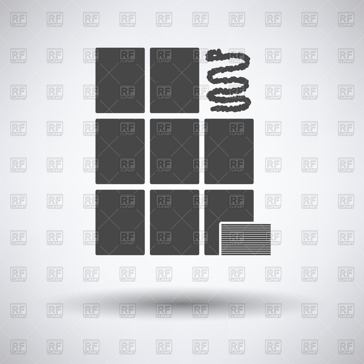 Wall tiles icon on a gray background Vector Image #122803.