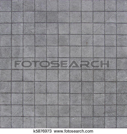 Stock Photo of 121 square pavement tiles in blue gray stone.