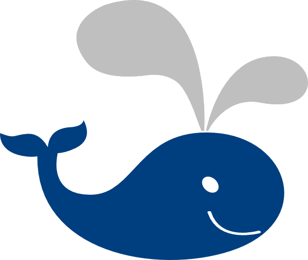 Bllue Gray Whale Clip Art at Clker.com.