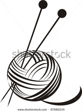 Ball of wool clip art.