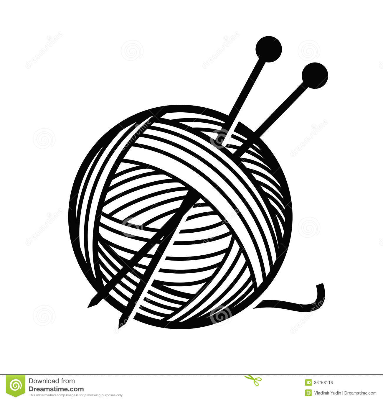 Yarn Stock Illustrations.