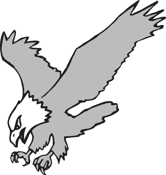 Grayscale Hunting Eagle Clip Art at Clker.com.
