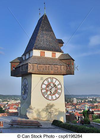 Stock Foto von österreich, Turm, graz, schlossberg.