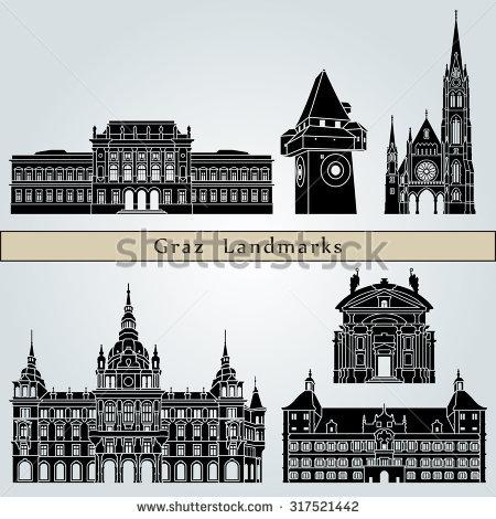 Graz Travel Stock Vectors & Vector Clip Art.