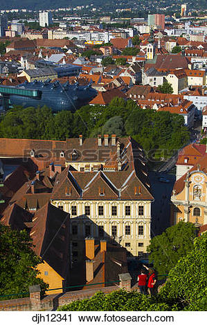 Stock Photography of Austria, Styria, Old Town, Graz, Graz Art.