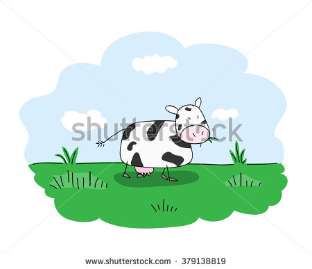 Cows Grazing Stock Images, Royalty.