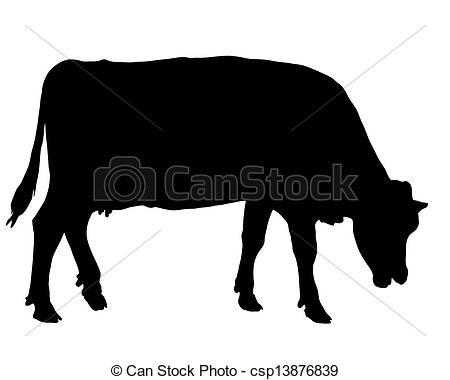 Vectors of Grazing cow csp13876839.