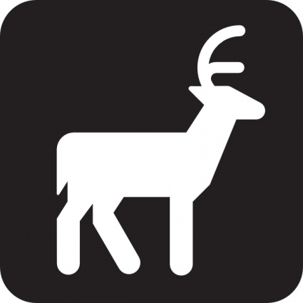 Sign Black Map Symbols Road Other Animal Viewing Dear Grazer clip.