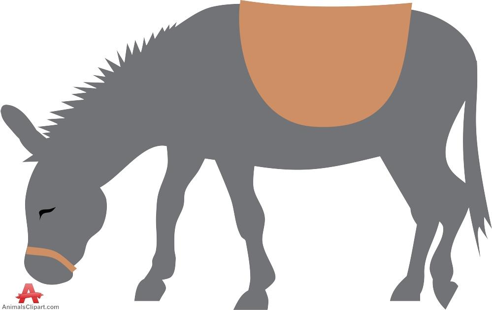 Grazing Donkey Silhouette.