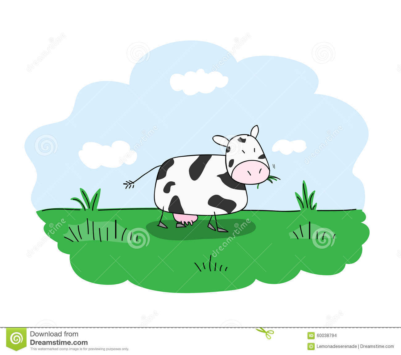 Showing post & media for Grazing cow cartoon.