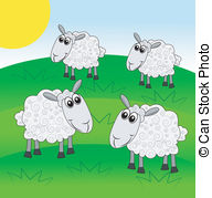 Sheep grazing clipart.