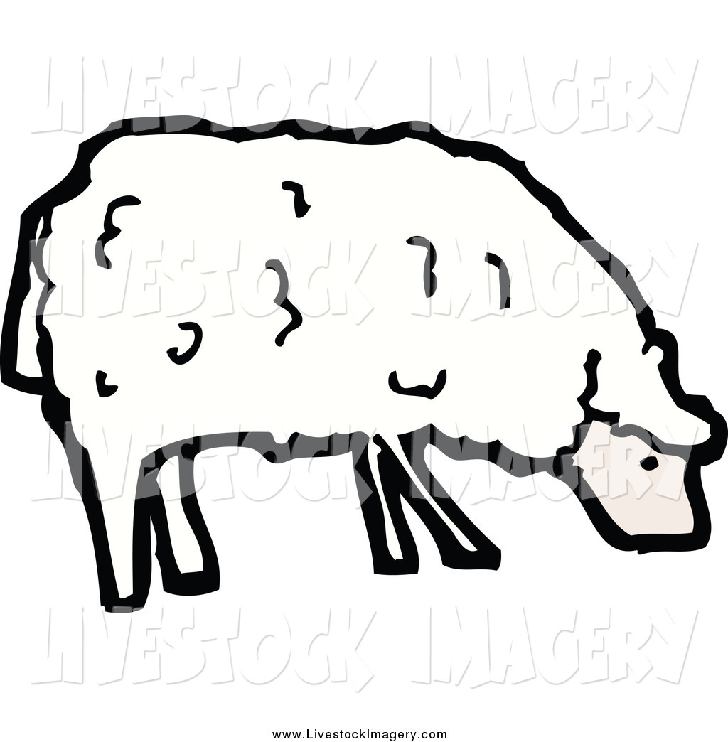 Grazing sheep clipart #12