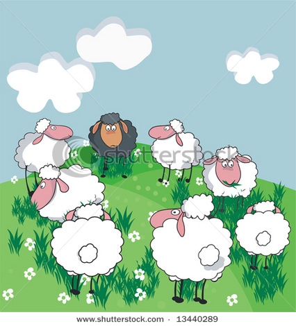 Grazing sheep clipart #11