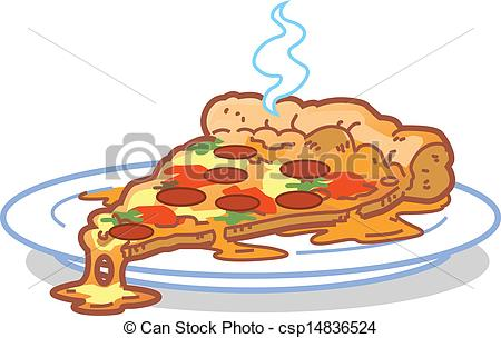 Vector Illustration of Slice Of Pizza.