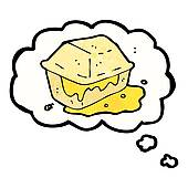 Clip Art of greasy junk food cartoon k15559307.