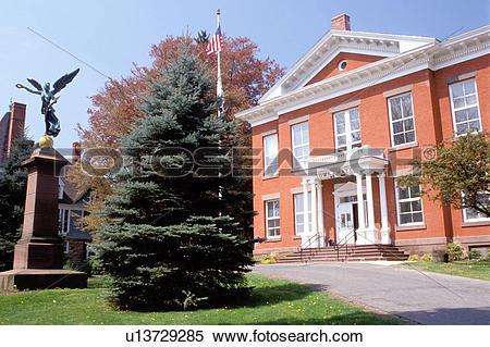 Stock Image of Great Barrington, Massachusetts, The Berkshires.