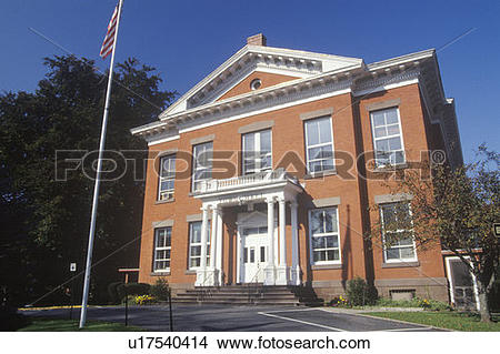 Stock Photo of Brick town hall, Great Barrington, MA u17540414.