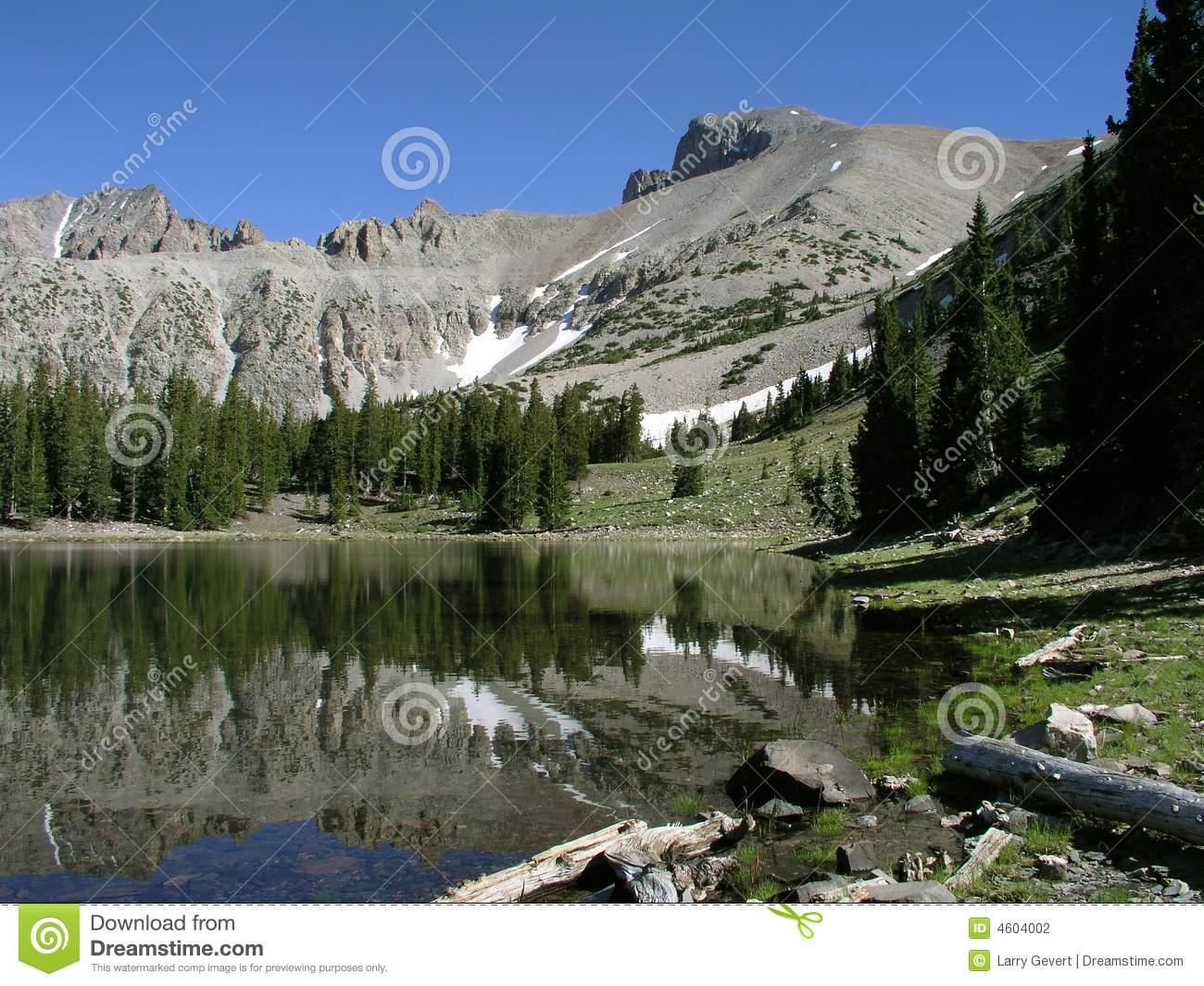 Glacier Below Wheeler Peak In The Great Basin National Park.