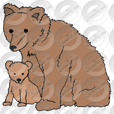 Bear and Cub Picture for Classroom / Therapy Use.
