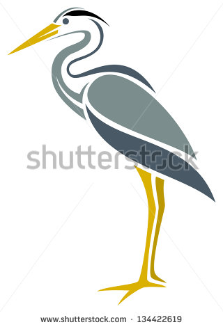 Great blue heron clipart.