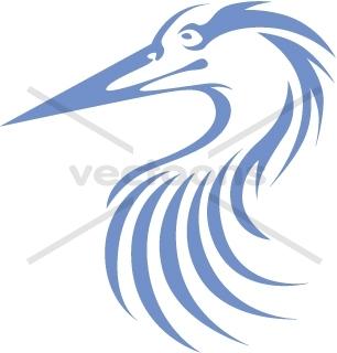 Swish Style Great Blue Heron.