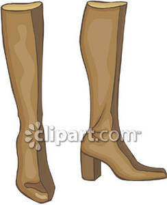 Brown Leather Boots Royalty Free Clipart Picture.