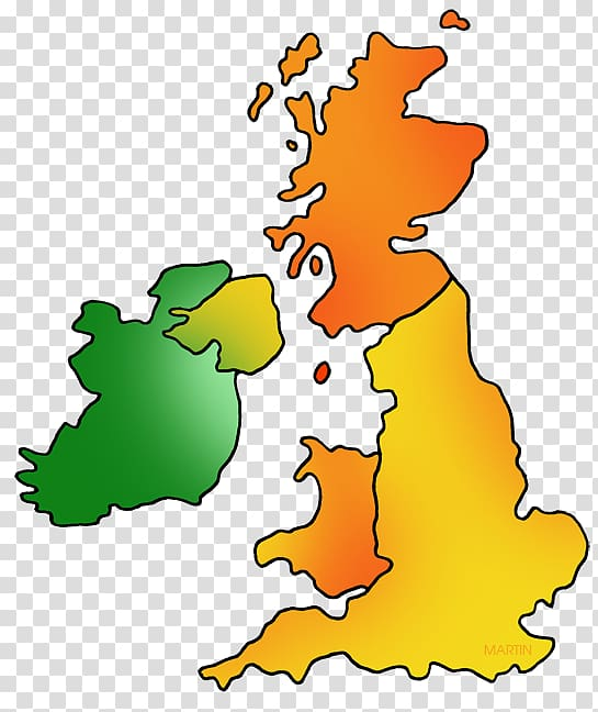 Great Britain Map of UK and Ireland British Isles Blank map.