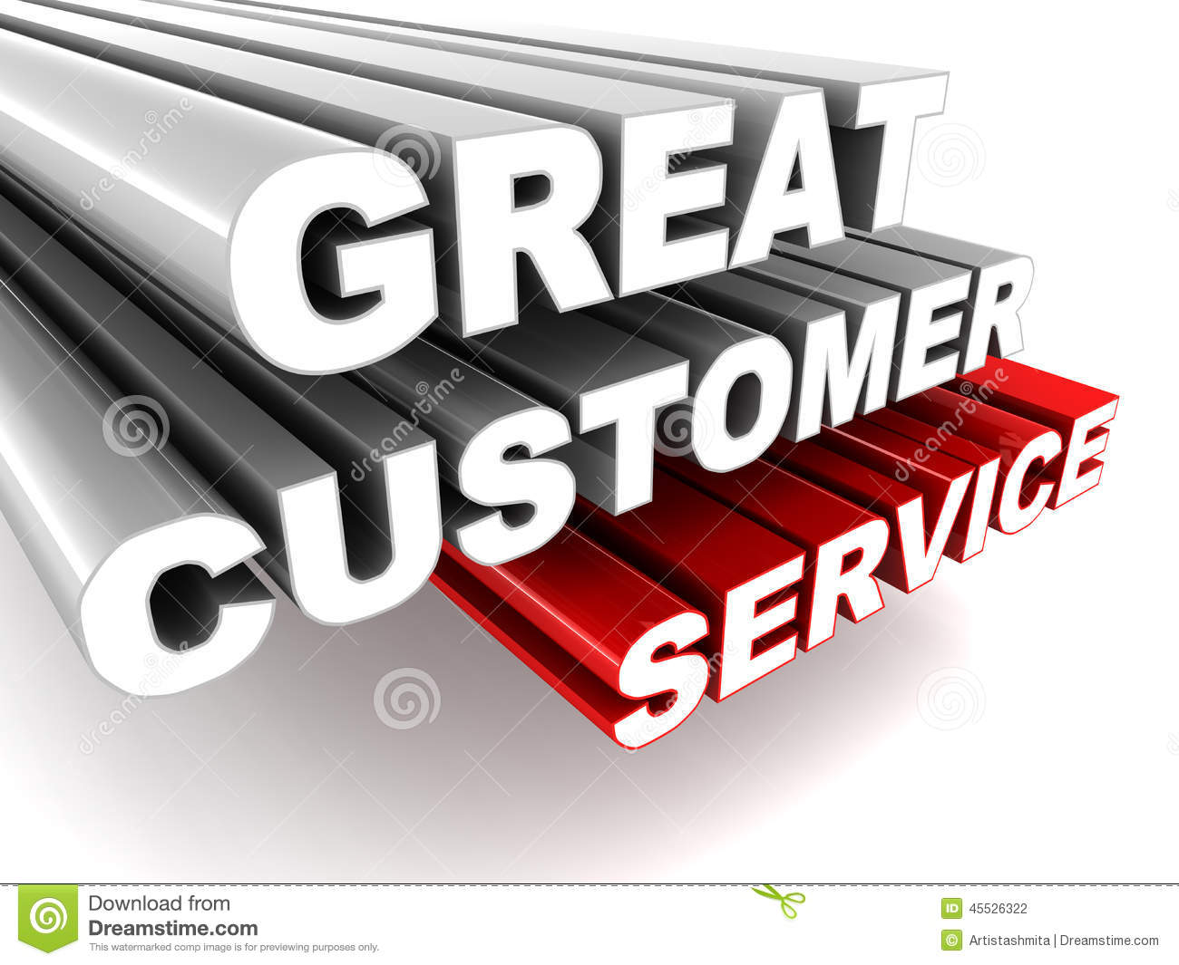 Great Customer Service Stock Illustration.