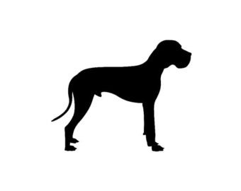 silhouette great dane clip art.