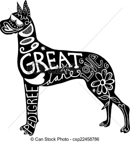 Great dane Illustrations and Clipart. 326 Great dane royalty free.