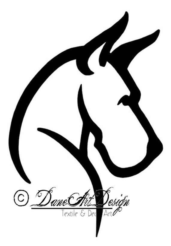 Large Great Dane Head Decal With Cropped Ears From DaneArt.