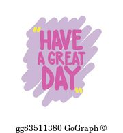 Have A Great Day Clip Art.