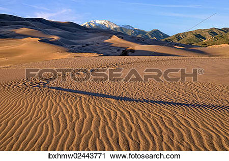 "Stock Photography of ""Evening mood, Great Sand Dunes National Park."
