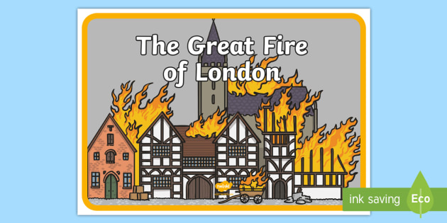 The Great Fire of London A4 Display Poster.