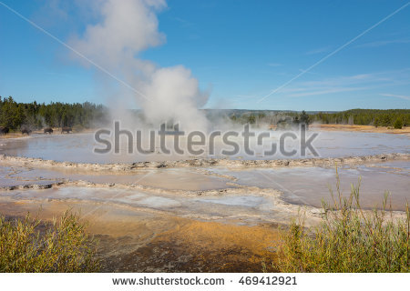 Firehole Geyser Stock Photos, Royalty.