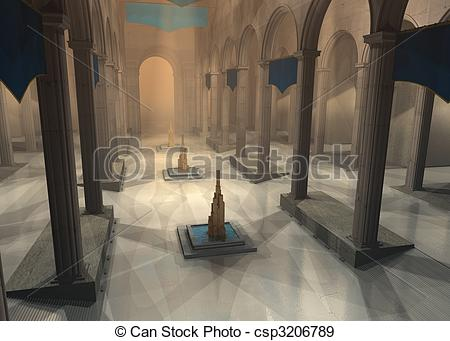 Stock Illustration of Great hall.