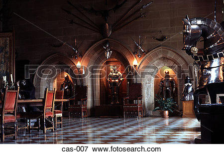 Picture of Great Hall Warwick Castle UK cas.