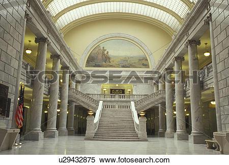Stock Image of Salt Lake City, UT, Utah, Utah State Capitol, State.