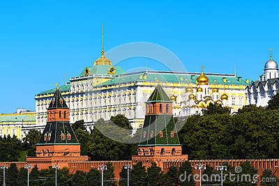 Great Kremlin Palace In Moscow Stock Photo.