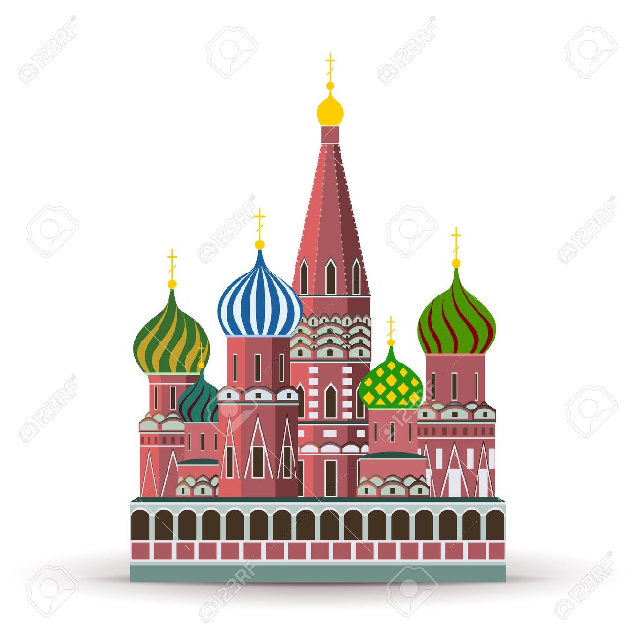Kremlin, St. Basil Cathedral, Attraction In Moscow Royalty Free.