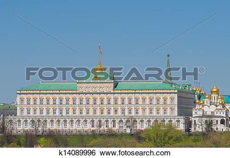 Stock Images of Russia, Moscow, Kremlin, Grand Kremlin Palace.