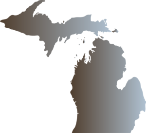 Michigan Outline With Great Lakes Clip Art at Clker.com.