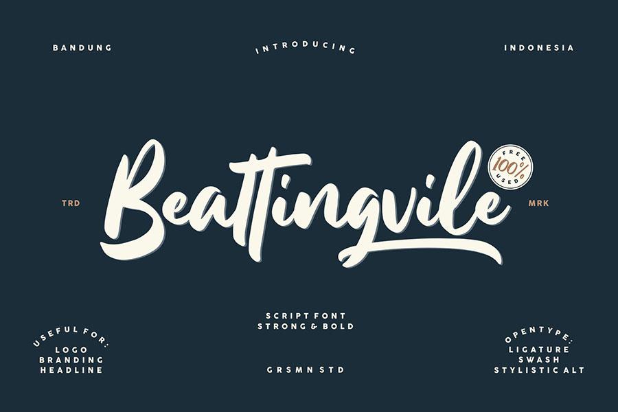 Free Font: Beattingvile › FreeTypography.